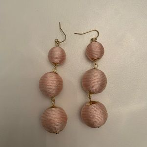 💕Francesca's Baby Pink Ball Earrings